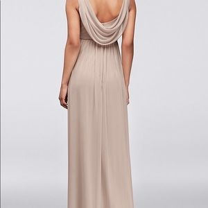David's Bridal Dresses - David's Bridal Long Mesh with Cowl Back detail
